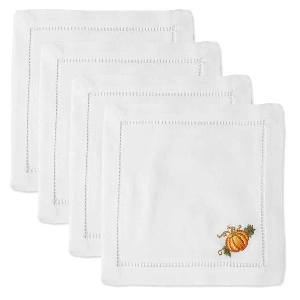 Pumpkins Grande<br>Cocktail Set - White Cotton