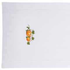 Pumpkins Grande<br>Table Runner - White Cotton