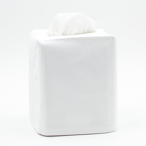 Pure<br>Tissue Box Cover - White Cotton