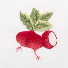 Radishes<br>Everyday Towel - White Cotton