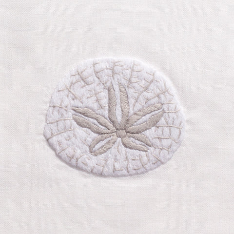 Sand Dollar<br>Hand Towel - White Cotton