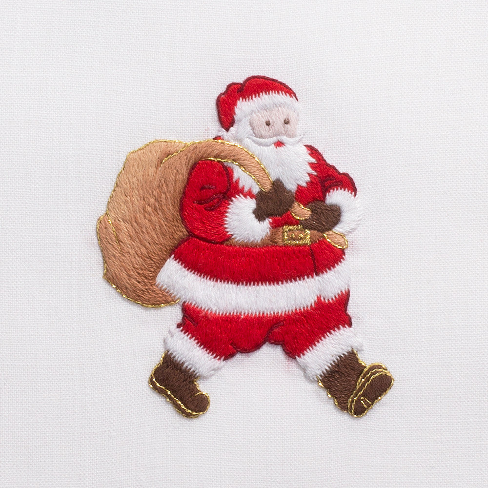 Santa<br>Hand Towel - White Cotton
