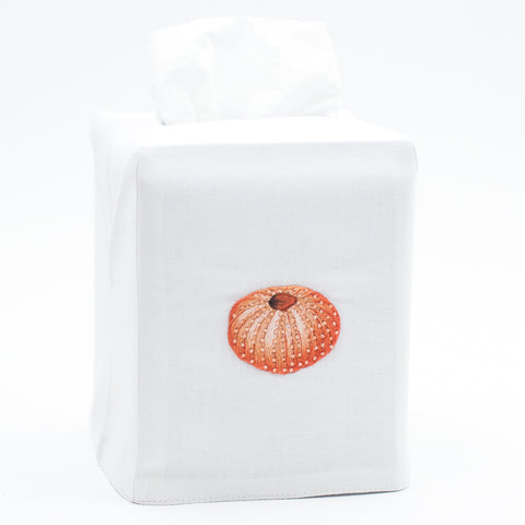 Urchin Blush<br>Tissue Box Cover - White Cotton