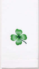 Shamrock<br>Hand Towel - White Cotton