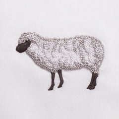 Sheep<br>Hand Towel - White Cotton