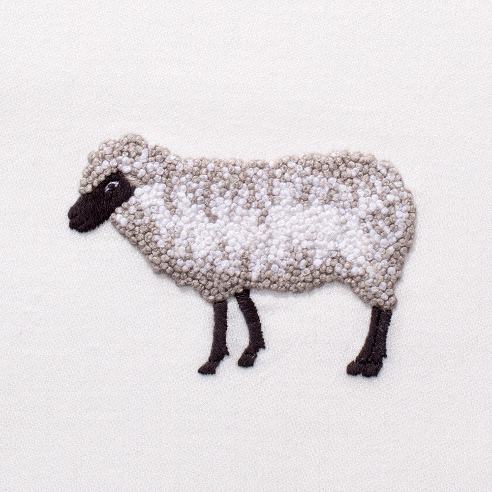 Sheep<br>Everyday Towel - White Cotton