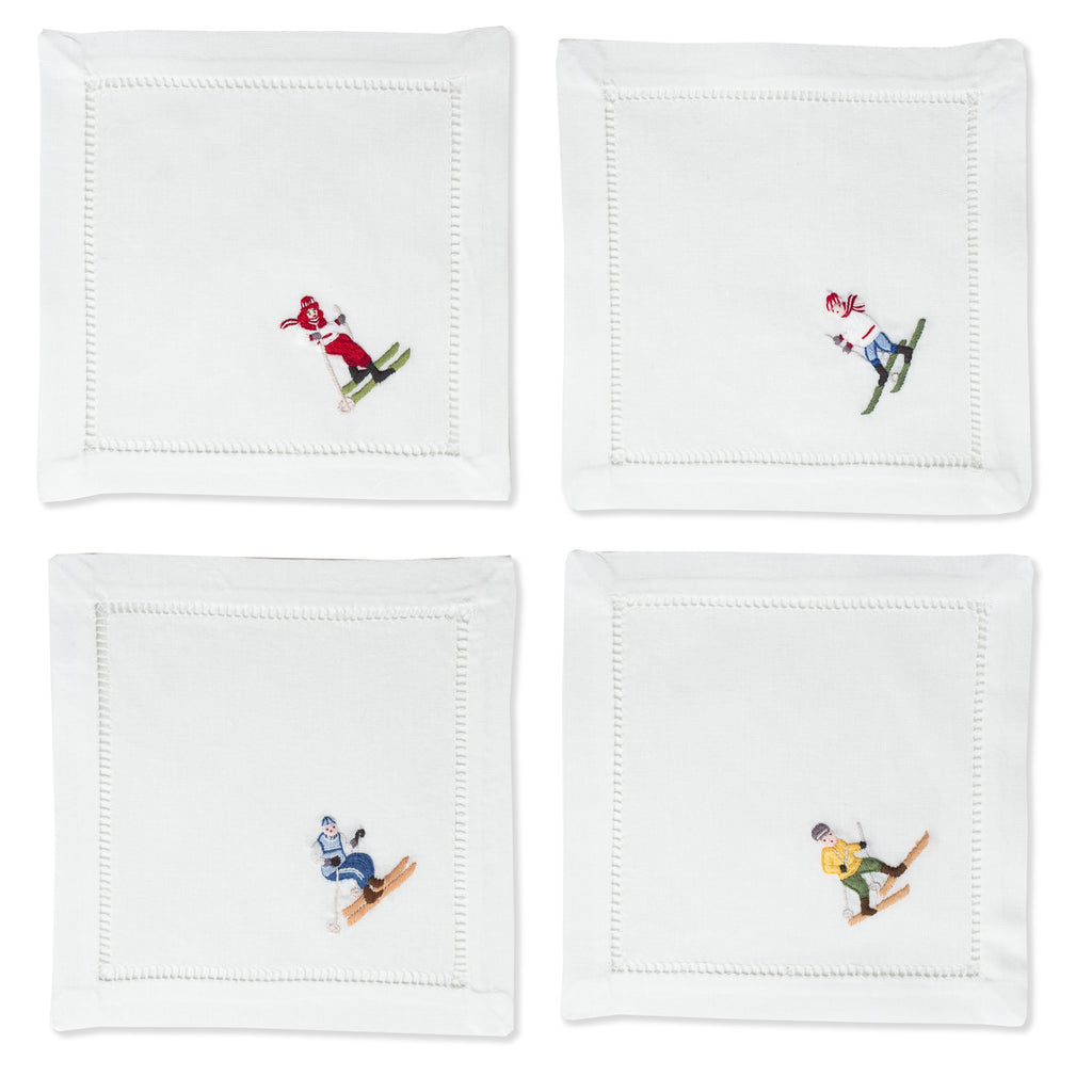 Skiers Mix Set<br>Cocktail Set - White Cotton