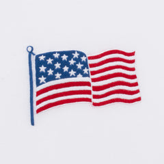Stars & Stripes<br>Hand Towel - White Cotton