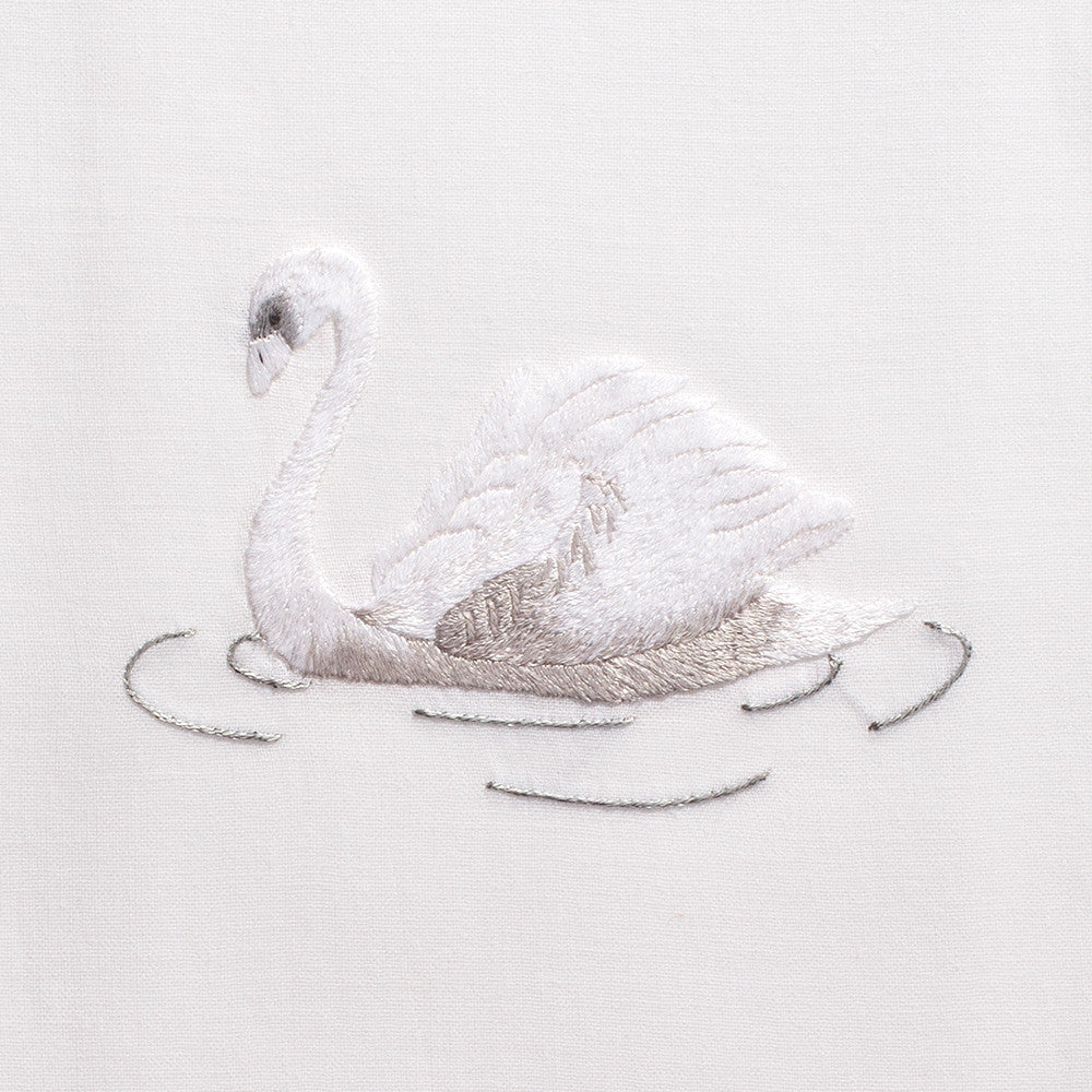 Swan<br>Hand Towel - White Cotton