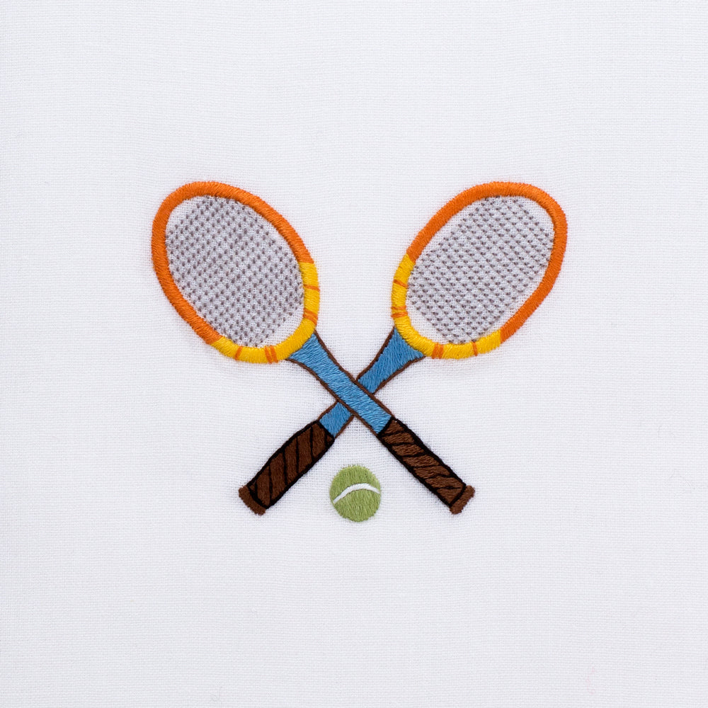 Tennis Racquets<br>Hand Towel - White Cotton