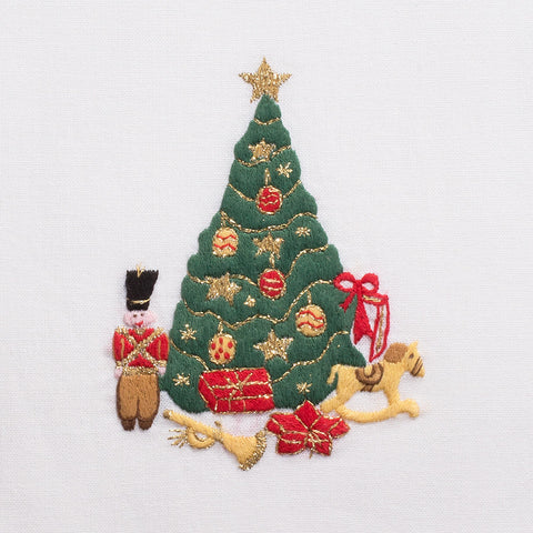Toys & Tree<br>Hand Towel - White Cotton