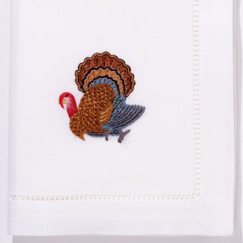 Turkey Gold<br>Napkin - White Cotton