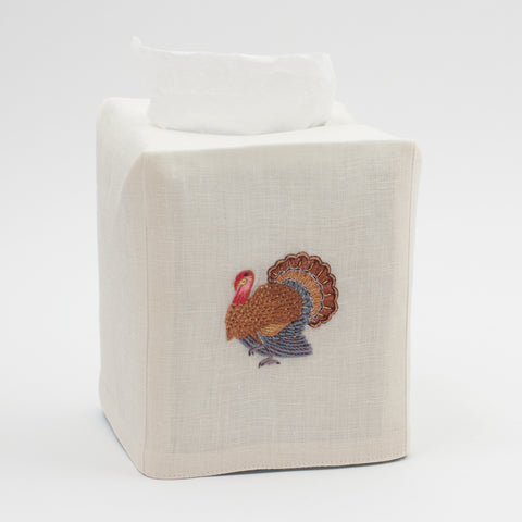 Turkey Gold<br>Tissue Box Cover - Ivory Linen<br>+50 In Stock