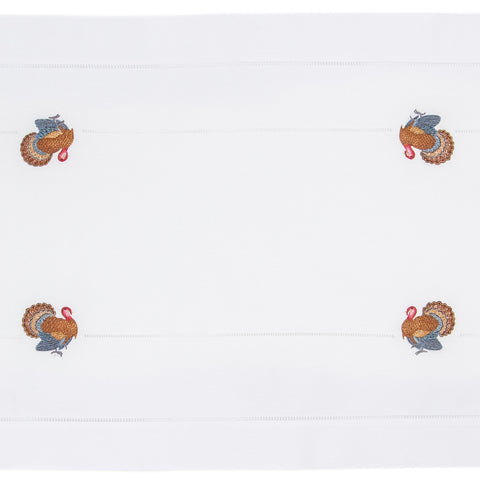 Turkey Gold<br>Table Runner - White Cotton