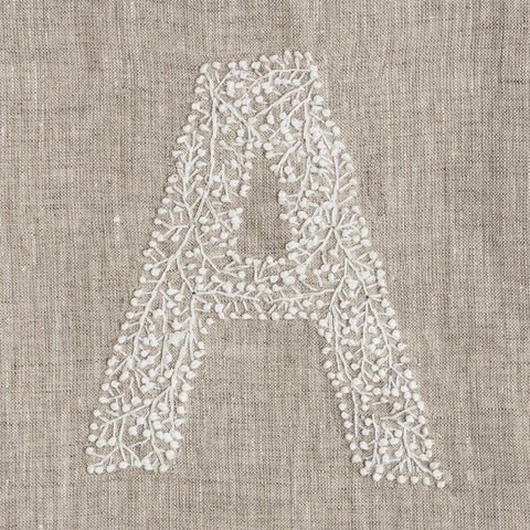 Monogram Twig<br>Hand Towel<br>Natural Linen