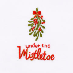 Under Mistletoe<br>Hand Towel - White Cotton