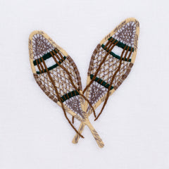 Vintage Snowshoes<br>Hand Towel - White Cotton