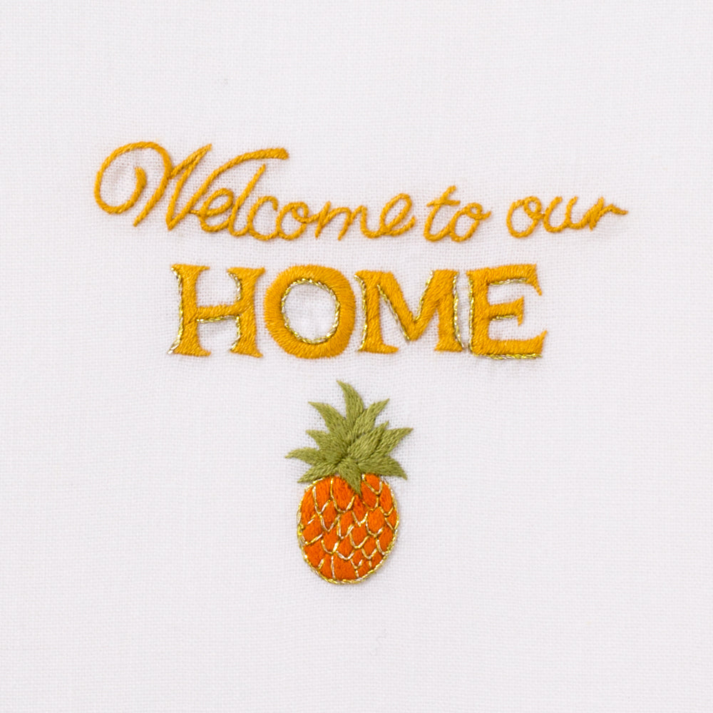 Welcome to Our Home<br>Everyday Towel - White Cotton
