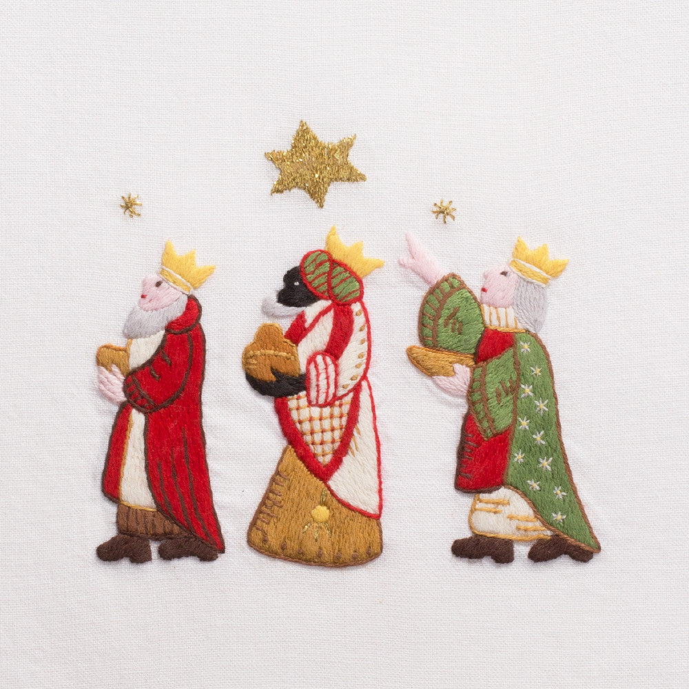 Wise Men<br>Hand Towel - White Cotton