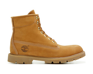 Timberland 6 Inch Basic Waterproof Wheat Nubuck SZ 10.5
