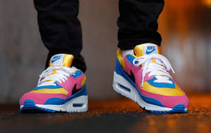 Nike Air Max 90 Leather Multi-Color GS SZ 6Y