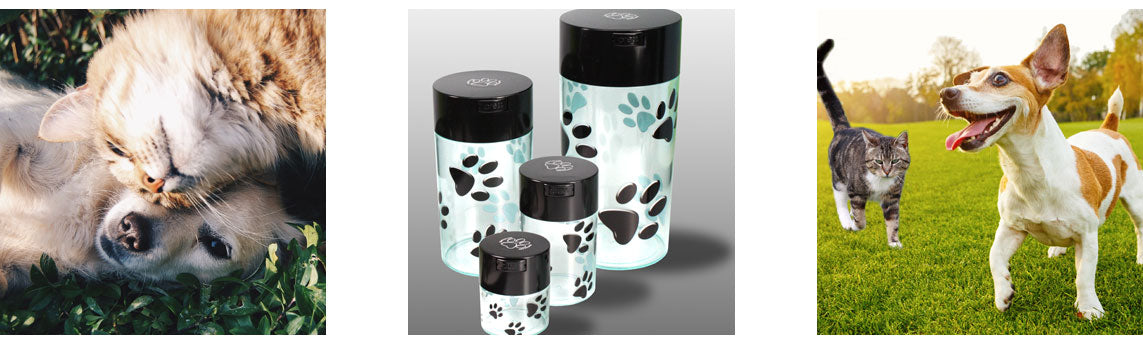 Pawvac's are the perfect pet food storage solution. Keeps Pet Food fresh.