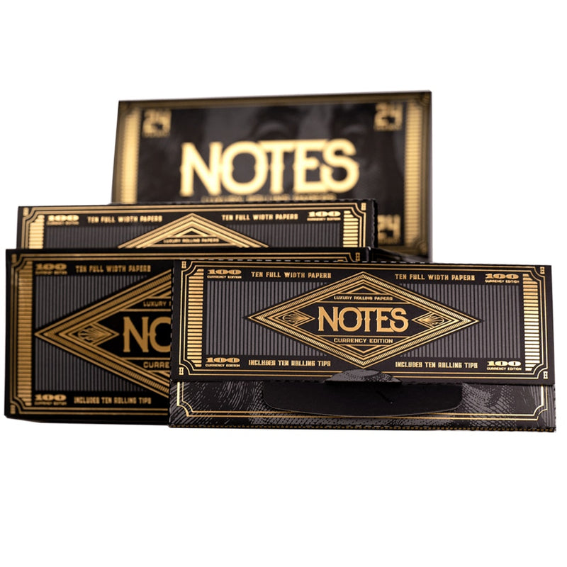 NOTES LUXURY ROLLING PAPERS CURRENCY ED 10 TIPS / PK