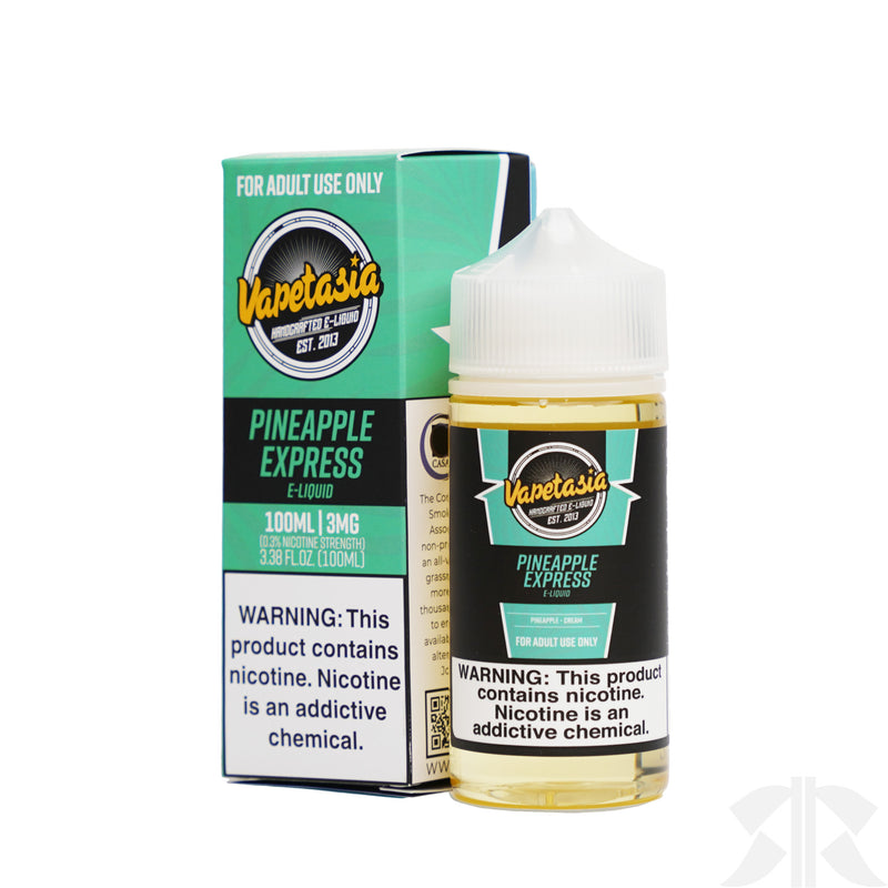 VAPETASIA E-JUICE 100ML - PINEAPPLE EXPRESS