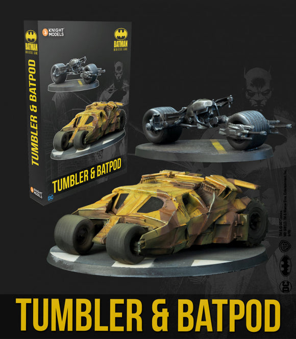 Batman Miniature Game Tumbler & Batpod