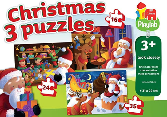 3 Christmas Puzzles Look Closely