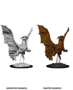 D&D Nolzur's Miniatures Young Copper Dragon