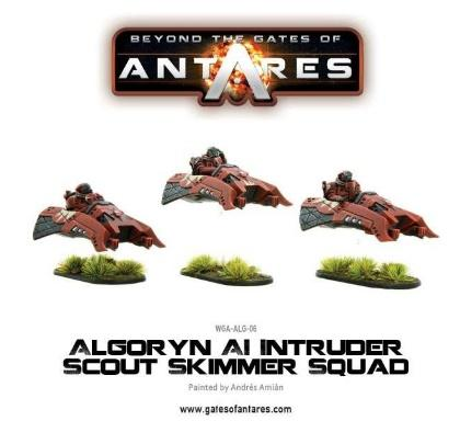 Beyond the Gates of Antares Algoryn AI Intruder Skimmer Command Squad