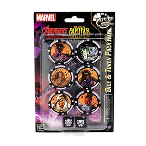 HeroClix Dice & Token Black Panther & th
