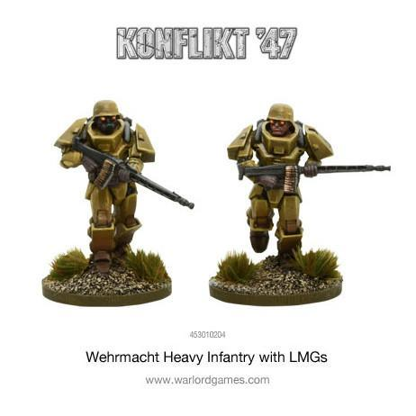 German Heavy Infantry with LMGs Konflik