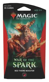 Magic the Gathering Red Theme Booster War of the Spark