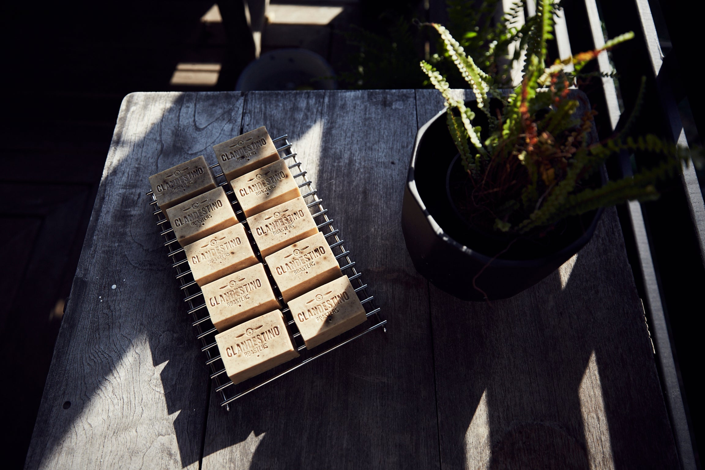 Handcrafted organic coffee soaps