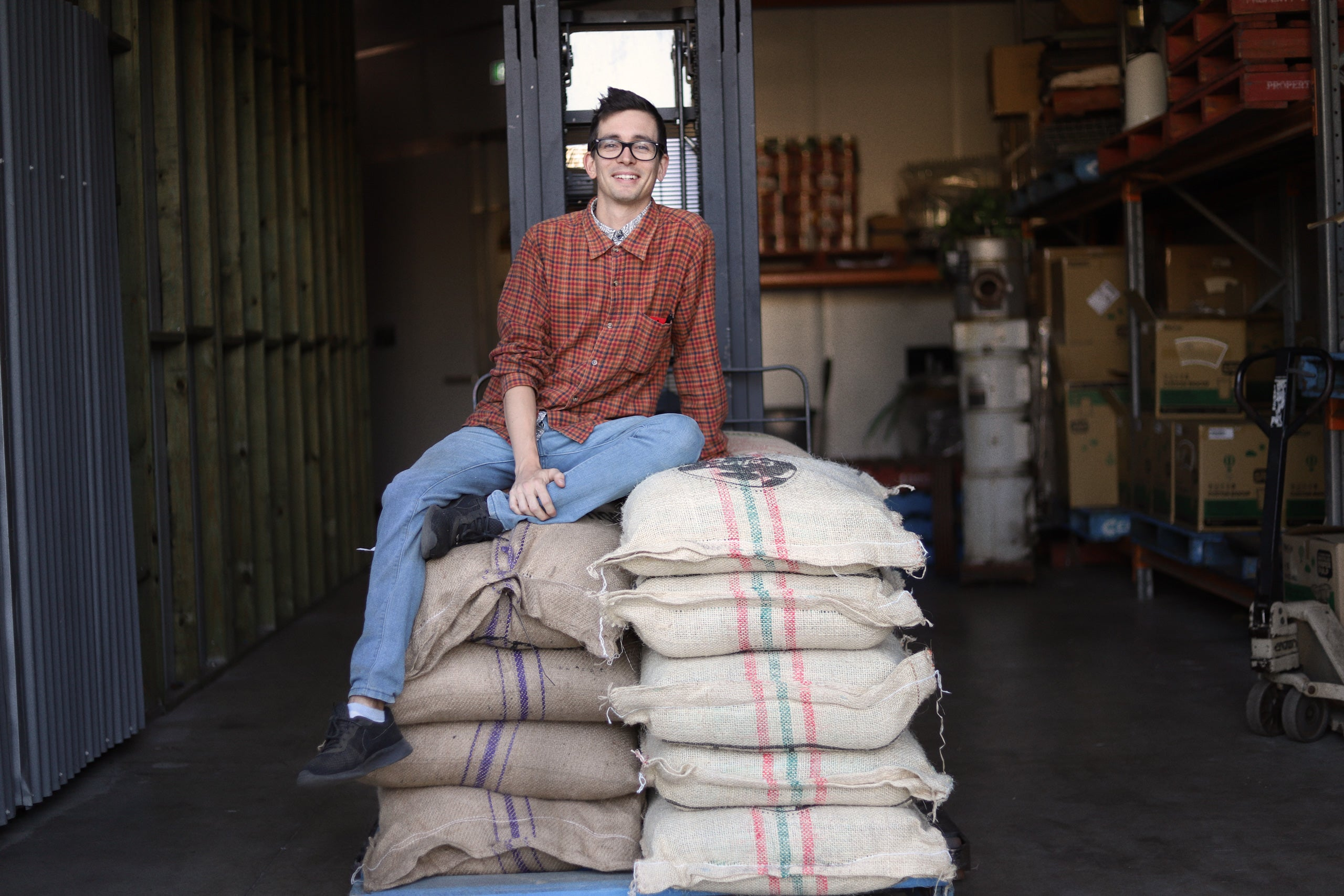 Head roaster Ryan Stegert Clandestino Coffee