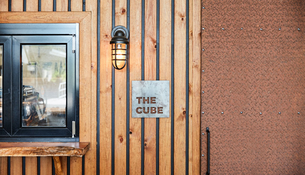 The Cube Clandestino Coffee signage