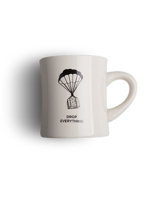 Drop Everything diner mug Clandestino Roasters