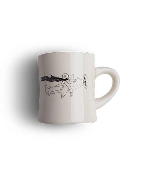 High on Coffee diner mug Clandestino Roasters