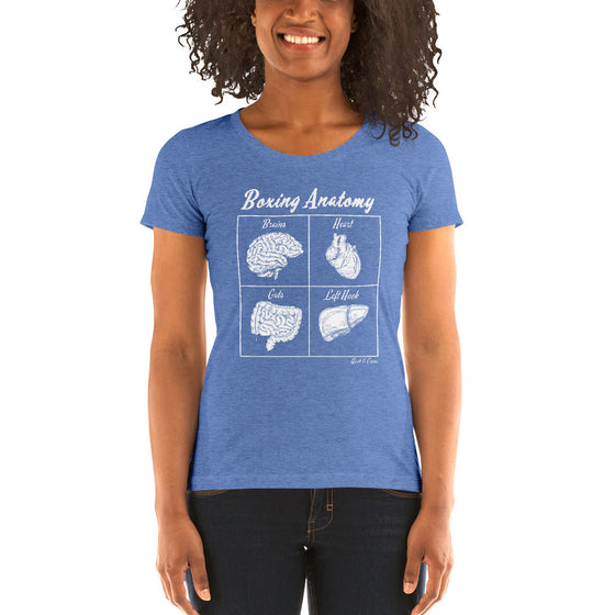 Boxing Anatomy Ladies' style t-shirt