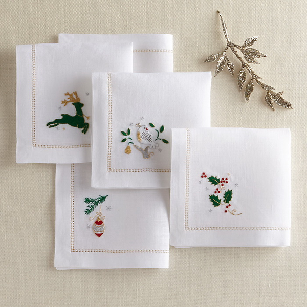 Toast the Holidays with Our Collection of Beautiful Napkins
