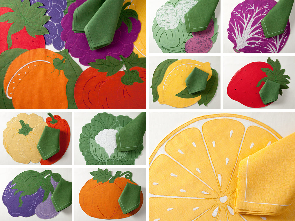 Colorful Placemats and Napkins for Every Day