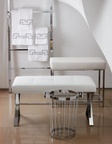 CHROME BENCHES & TOWELS STANDS