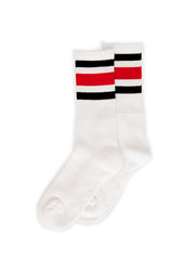SOCCO Crew White/Black Red