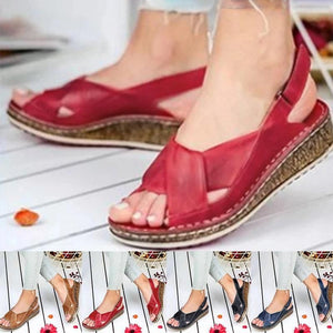 #1 SUMMER 2020 Woman Peep-toe Wedge Comfortable Sandals SALE OFF 50% JUST TODAY