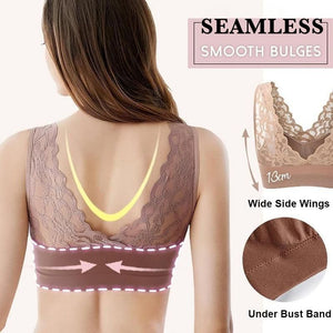 #1 SUMMER COLLECTION LAMI BRA - Push Up Comfort Super Elastic Breathable Lace Bra