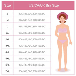 7XL Large Size Thin Collection Full Cup Bra