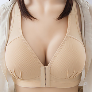 #1 HOT SELLER - Plus Size Sexy Push Up Bra Front Closure Solid Color Brassiere