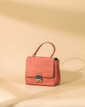 Load image into Gallery viewer, MINI CORAL CORK SHOULDER BAG ADJUSTABLE STRAP